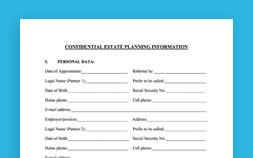 Photo of Confidential Estate Planning Information