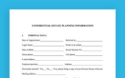 Photo of Confidential Estate Planning Worksheet For Unmarried Individuals