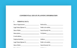 Photo of Confidential Estate Planning Worksheet for Same Sex Married Couples